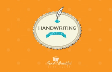 A handwriting workbook for Kindergarten, teaching cursive. To supplement homeschooling Language Arts.