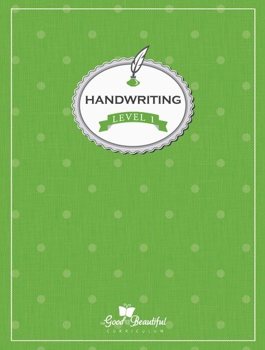 A handwriting workbook for 1st grade, teaching cursive. To supplement homeschooling Language Arts.