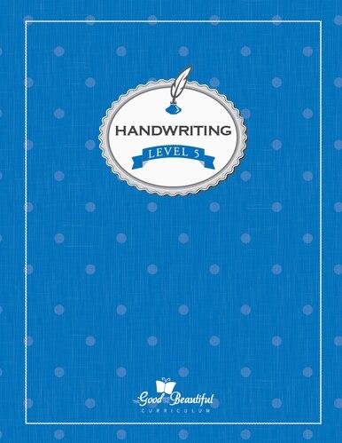 Handwriting Level 5 blue cover 2b