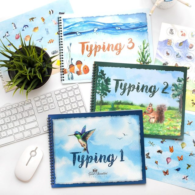 Front Covers of Typing 1, 2, & 3 Course Books - 2B