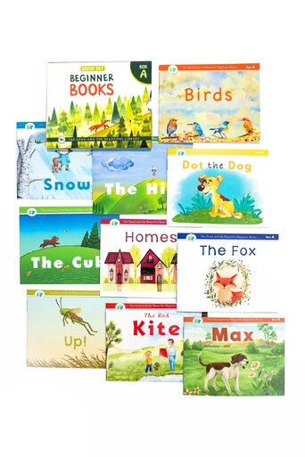 Beginner Books A- Set of 10 books to read for beginners with phonograms and short words. Includes short stories and beautiful illustrations.