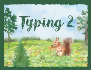 Homeschool typing curriculum and educational resource including daily lessons and stickers