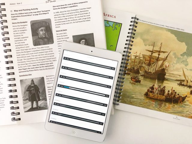 History Year 2 Open Course Book & iPad with Audio Files