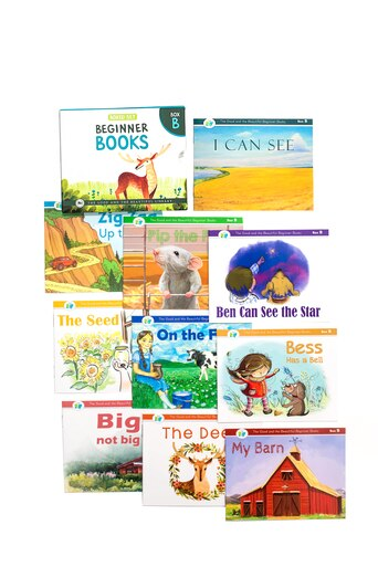 Beginner Books B- Set of 10 books to read for beginners with phonograms and short words. Includes short stories and beautiful illustrations.
