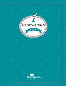 A handwriting workbook for 7th grade, teaching cursive. To supplement homeschooling Language Arts.