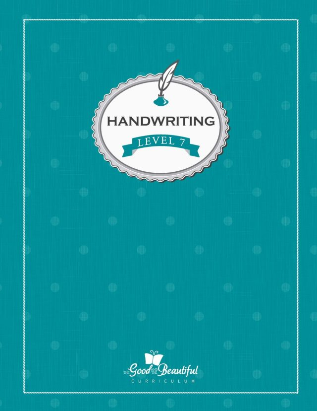 Handwriting Level 7 turquoise cover