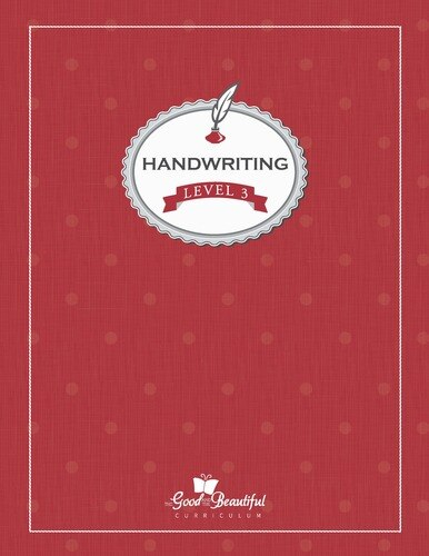 A handwriting workbook for 3rd grade, teaching cursive. To supplement homeschooling Language Arts.