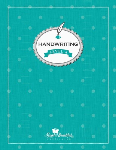 A handwriting workbook for 4th grade, teaching cursive. To supplement homeschooling Language Arts.