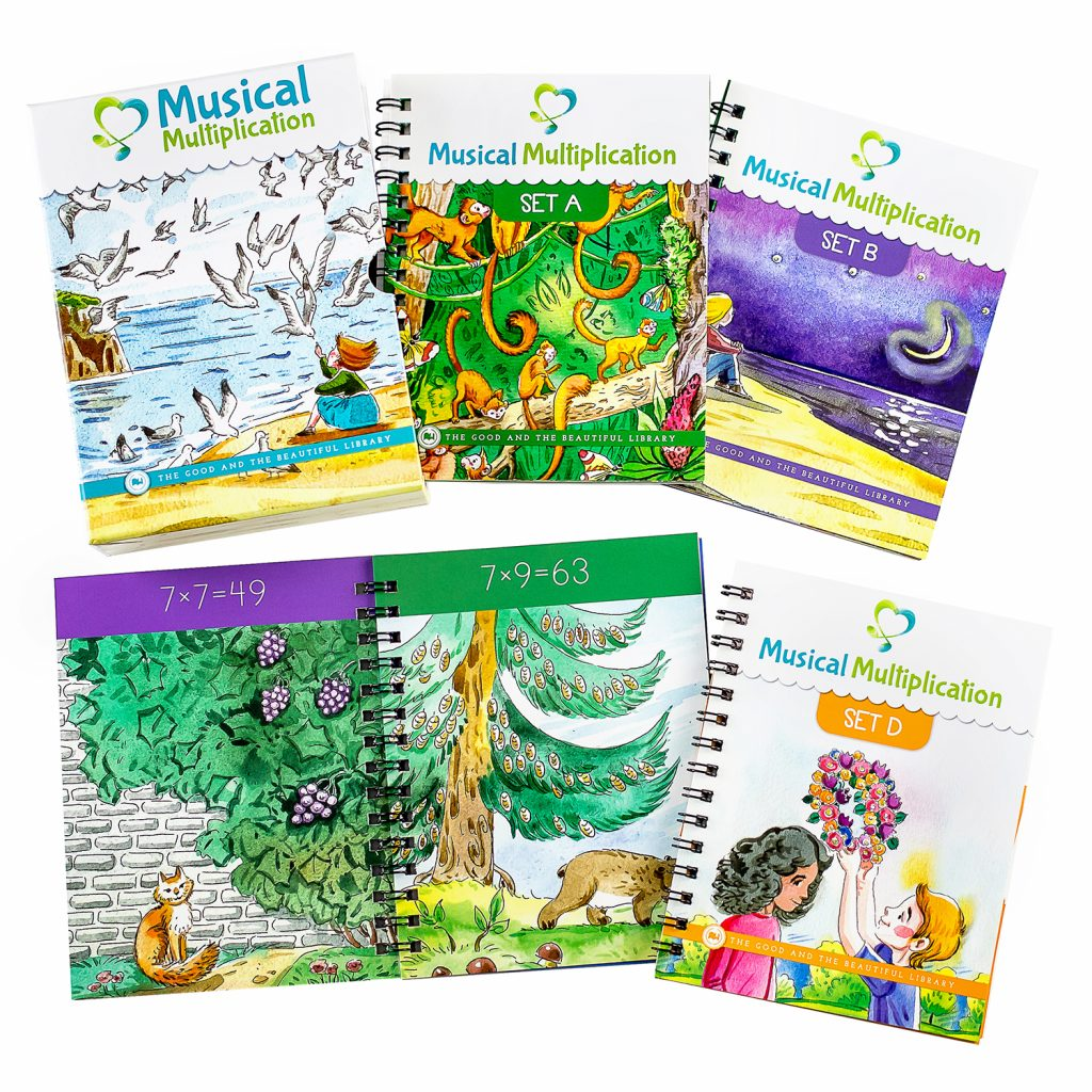 Musical Multiplication is full of vibrant images, beautiful multiplication songs, and captivating lyrics that make memorization a breeze!