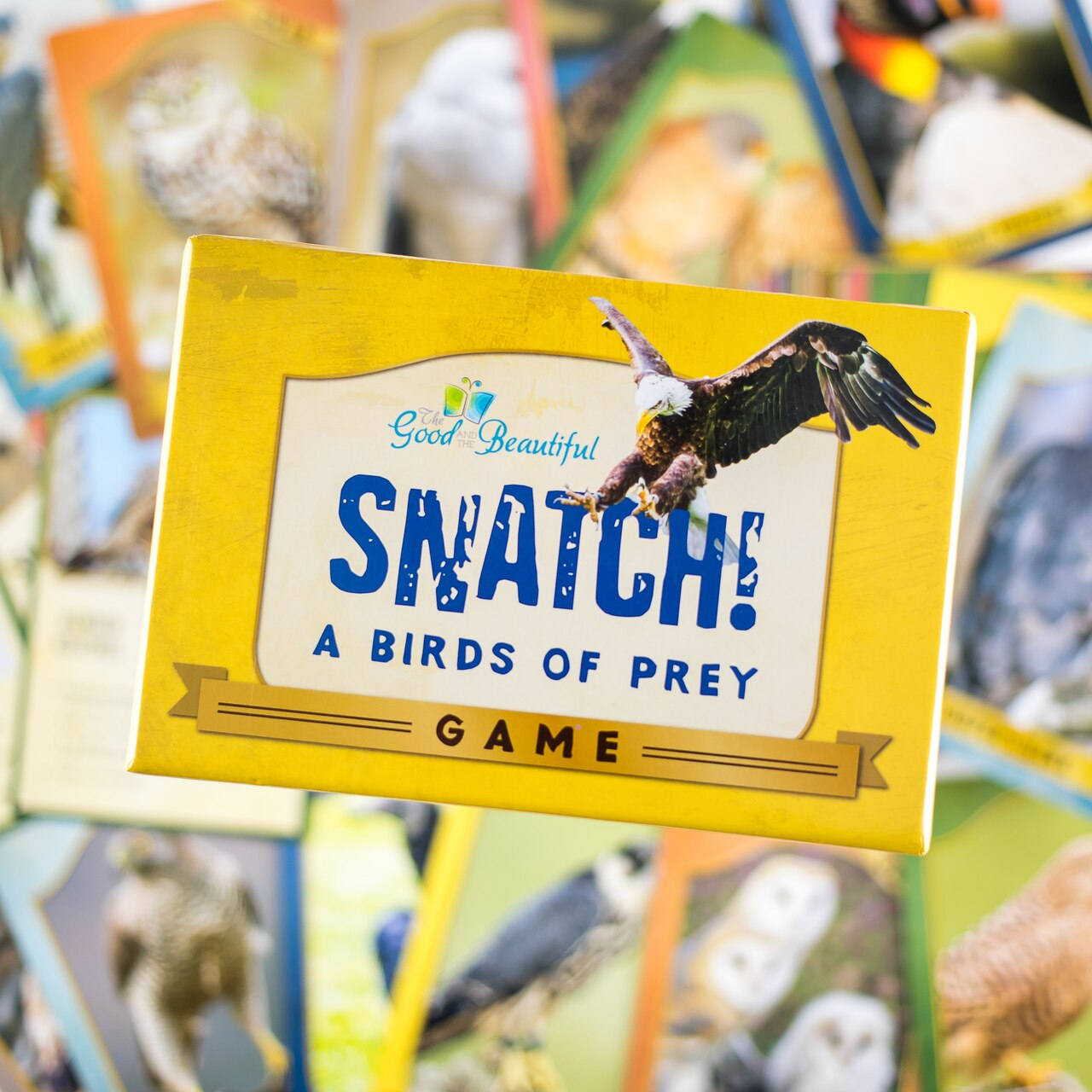 This game includes 64 amazing cards designed to help children recognize, identify, and learn about the unique characteristics of these intriguing raptors.